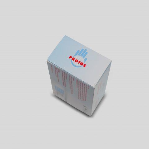 Protos - Latex Examination Gloves Powdered Smooth (biru) 3