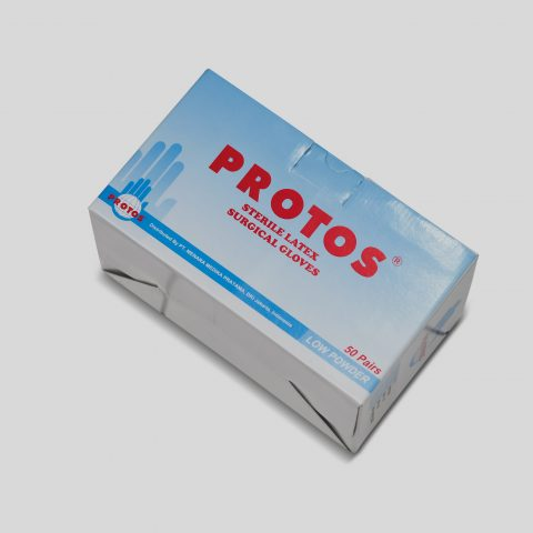 protos - surgical gloves low powder (biru) 2