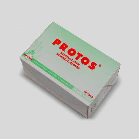 protos - surgical gloves powder free (hijau) 1